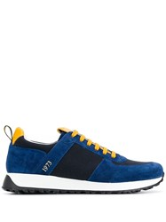 Doucal's Contrast Lace Up Sneakers Blue