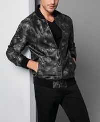 Inc International Concepts Men's Faux Leather Bomber Jacket Only At Macy's Black