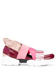 Emilio Pucci City Up Colourblock Ruffled Sneakers Pink