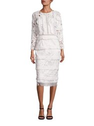 Sachin Babi Lavinia Lace Ruffle Sheath Dress Ivory