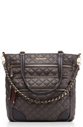 M Z Wallace Mz Crosby Quilted Nylon Tote Grey Magnet