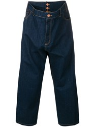 Vivienne Westwood Anglomania Cropped Loose Fit Jeans Blue