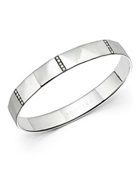 Ippolita Sterling Silver Senso 5 Section Wide Bangle With Diamonds White Silver