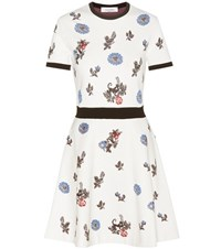 Valentino Floral Knitted Dresss White