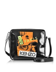Kenzo Paris Black Patent Leather Crossbody Bag