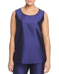 Marina Rinaldi Bucolico Silk Tank China Blue