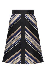 Martin Grant A Line Front Trim Stripe Skirt