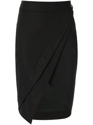 Giuliana Romanno Asymmetric Skirt Black