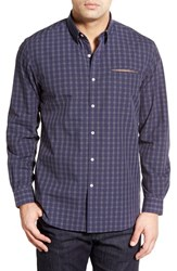 Men's Zagiri 'Beds Are Burning' Regular Fit Dobby Plaid Sport Shirt
