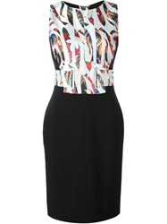 Antonio Berardi Printed Party Dress Black