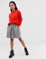 Minimum Moves By Skater Skirt Grey Melange
