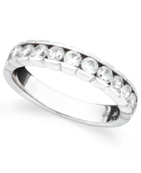 Macy's Diamond Wedding Band Ring In 14K White Gold 1 Ct. T.W.