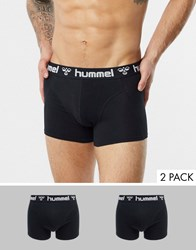 Hummel 2 Pack Boxers Black