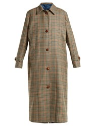 Giuliva Heritage Collection Maria Checked Virgin Wool Coat Grey Multi