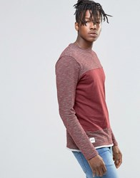 Native Youth Stripe Long Sleeve Top Burgundy Red
