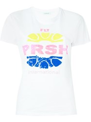 P.A.R.O.S.H. Sequin Embellished T Shirt White