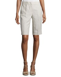 Peserico Long Linen Walking Shorts Women's