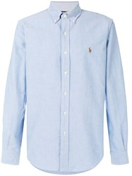 Ralph Lauren Logo Embroidered Shirt Cotton Blue