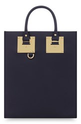 Sophie Hulme 'Mini Albion' Tote Blue Midnight Navy