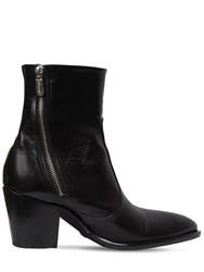 Rocco P. 60Mm Zipped Leather Ankle Boots Black