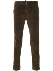 Dsquared2 Skater Jeans Cotton Spandex Elastane Brown