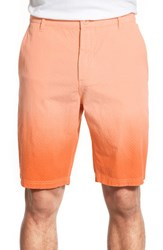 Men's O By Oscar De La Renta Tie Dye Dobby Shorts Orange