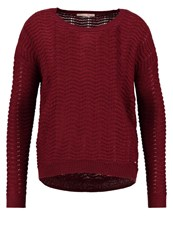Tom Tailor Denim Jumper Cabernet Bordeaux Red