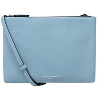 Kurt Geiger Pisces Leather Pouch Clutch Bag Saffiano Turquoise