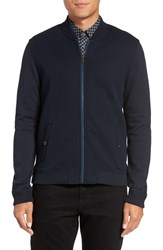 Ted Baker Men's London 'Bruno' Trim Fit Quilted Baseball Jacket Navy