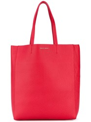 Orciani Shopper Tote Women Leather One Size Red
