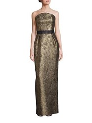 Nha Khanh Flight Of Fancy Kennedy Textured Gown Gold