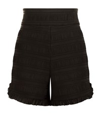 Maje Ingrid High Waist Shorts Female Black