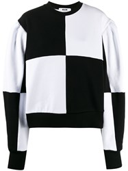 Msgm Checked Knitted Jumper Black