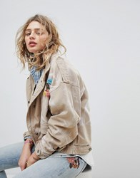 Maison Scotch Oversized Army Jacket With Safari Pockets Beige