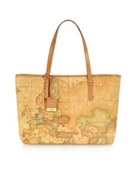 Alviero Martini 1A Prima Classe Geo Printed Large 'New Basic' Tote Bag Brown