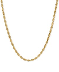 Macy's Rope Chain Necklace In 10K Gold