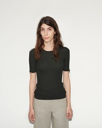 Christophe Lemaire Fine Rib Tee Shirt Midnight Forest