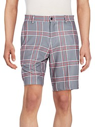 Dunning Golf Plaid Shorts Charcoal