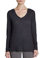 Marc New York By Andrew Marc Performance V Neck Pullover Hoodie Smoke