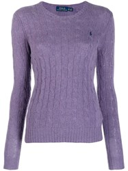 Polo Ralph Lauren Cable Knit Top Purple