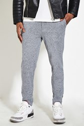Forever 21 Marled Slim Fit Pants Heather Grey