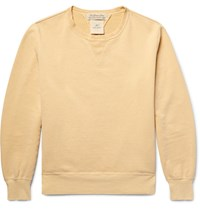 Remi Relief Loopback Cotton Jersey Sweatshirt Mustard
