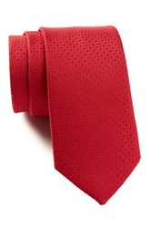 14Th And Union Silk Antonio Solid Tie Red
