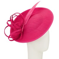 John Lewis Erin 2 Disc Feather Quill Occasion Hat Fuchsia