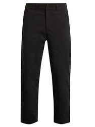 Acne Studios Angus Salt Cropped Cotton Chino Trousers Black
