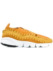 Nike Air Footscape Woven Sneakers Men Suede Polyester Rubber 9 Brown