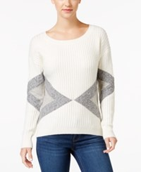 Calvin Klein Jeans Geometric Pattern Ribbed Sweater Pristine