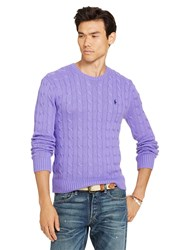 Polo Ralph Lauren Cable Knit Crew Neck Jumper Spanish Purple