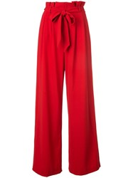 Alice Olivia Farrel Wide Leg Trousers Red