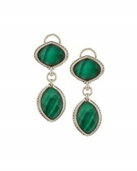Lagos Malachite Doublet Drop Earrings Green
